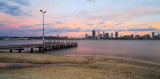 Perth and the Swan River at Sunrise, 6th April 2015
