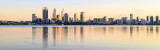 Perth and the Swan River at Sunrise, 19th May 2015