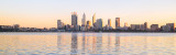 Perth and the Swan River at Sunrise, 29th May 2015
