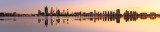 Perth and the Swan River at Sunrise, 27th June 2015