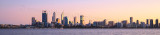 Perth and the Swan River at Sunrise, 28th June 2015