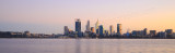 Perth and the Swan River at Sunrise, 24th July 2015