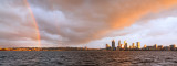 Rainbow over Perth and the Swan River at Sunrise, 8th August 2015