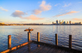 Perth and the Swan River at Sunrise, 9th August 2015