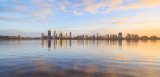 Perth and the Swan River at Sunrise, 11th August 2015