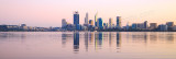 Perth and the Swan River at Sunrise, 12th August 2015