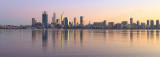 Perth and the Swan River at Sunrise, 14th August 2015