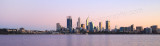 Perth and the Swan River at Sunrise, 24th August 2015