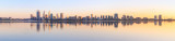 Perth and the Swan River at Sunrise, 7th September 2015