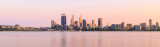 Perth and the Swan River at Sunrise, 21st September 2015