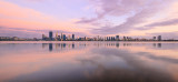 Perth and the Swan River at Sunrise, 11th January 2016