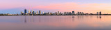 Perth and the Swan River at Sunrise, 24th January 2016