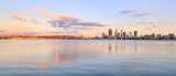 Perth and the Swan River at Sunrise, 26th January 2016
