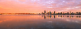 Perth and the Swan River at Sunrise, 1st February 2016