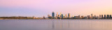 Perth and the Swan River at Sunrise, 12th March 2016