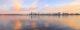 Perth and the Swan River at Sunrise, 2nd April 2016