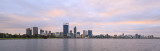 Perth and the Swan River at Sunrise, 9th June 2016