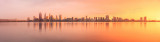 Perth and the Swan River at Sunrise, 22nd June 2016