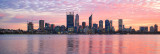 Perth and the Swan River at Sunrise, 12th July 2016