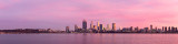 Perth and the Swan River at Sunrise, 27th July 2016