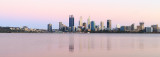 Perth and the Swan River at Sunrise, 7th November 2016