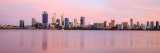 Perth and the Swan River at Sunrise, 21st November 2016