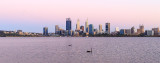 Perth and the Swan River at Sunrise, 29th November 2016