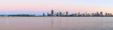 Perth and the Swan River at Sunrise, 14th December 2016