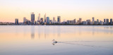 Perth and the Swan River at Sunrise, 8th January 2017