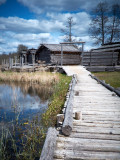 Latgallian wooden lake castle