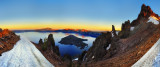 Crater Lake at sunrise