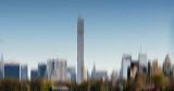 Central Park South Skyline Reservoir Reflectiion