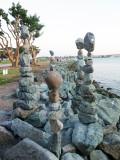 Balancing Stones at Seaport Village Park Entrance
