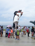'The Kiss' near the Midway Aircraft Carrier