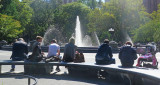 A Sunny Early Fall Day at the Fountain