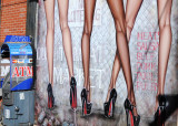 Street Mural - Legs &  ATM Machine