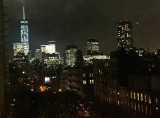 Manhattan Downtown Skyline at Night