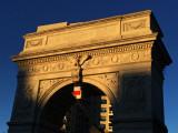 Raising the French Flag at Washington Square Arch