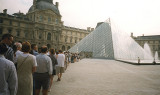 Line up for the Louvre