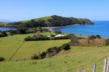The peninsula has many little bays where farmers have built their farm houses and farmed This is now a sheep farm