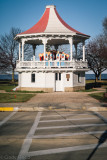 1800's Bandstand hosting the choir