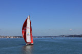 An Old America's Cup Yacht cruising