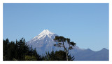 It is an active but calm stratovolcano in Taranaki  on the west coast of New Zealand's North Island.