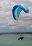 Paragliding from North Head / Maungauika at Devonport, Auckland.