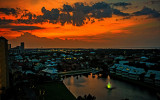Florida Sunset with Storms