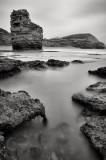 Ladram bay on a stormy day