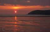 Sunset over Croyde Beach in N Devon