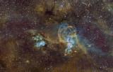 NGC 3576 (The Statue of Liberty Nebula), NGC 3603, NGC 3590 HaSHO