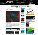 Ou4 (and SH2 129): A Giant Squid Nebula and a Flying Bat - Picture of the Day in Astronomy Magazine's Web Site - 29.12.14
