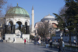 Outside the Hagia Sophia